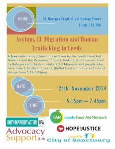 Food Aid Network Leeds trafficking asylum event